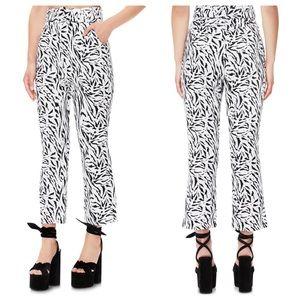 AFRM | Belted Linen Zebra Pants